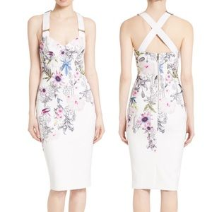 TED BAKER Dress Scarlin Passion Flower Body Con XS